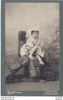CABINET - Portrait Fillette En Costume Folklorique Par Amiaud La Roche-sur-Yon (Ca 1890/1900) (BP) - Antiche (ante 1900)