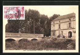 CPA Lencloitre, Pont Sur L`Envigne - Lencloitre