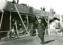 "Russia - Submarine ""Akula"" In Baltiyskiy Plant - Mint Postcard Of Publishing House Gangut - Submarines"