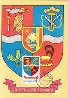 95786- SATU MARE COUNTY COAT OF ARMS, MAXIMUM CARD, 1980, ROMANIA - Other