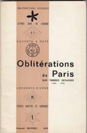 OBLITERATIONS DE PARIS SUR TIMBRES DETACHES. 1849-1876.  ARMAND MATHIEU. 1974 - France