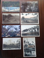 8 Postcards Lot Singapore Malaysia Reservoirs Traveller's Trees Native Houses Factory Posted/unposted 1920s/1940s - Singapore