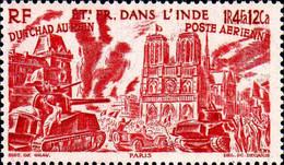 Inde Avion N** Yv:11/16 Du Tchad Au Rhin - Unused Stamps