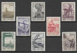 Chine China 1954 - Série Complète Y&T N° 1000 à 1007  Neufs ** Avec N° De Série Et Parution - Unused Stamps