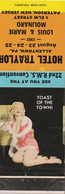 Hotel Traylor Peterson New Jersey Matchbook 1962 Pin Up - Boites D'allumettes - Etiquettes