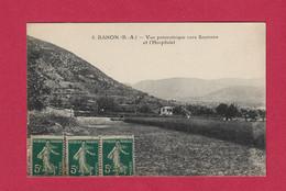 04 - BANON - Vue Panoramique Vers Saumane Et L'Hospitalet - 1921 - Autres Communes