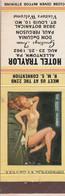 Hotel Traylor Allentown PA.  Matchbook Cover 1962 Pin Up - Boites D'allumettes - Etiquettes