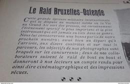 1902 LE RAID BUXELLES = OSTENDE - GRANDE EPREUVE MILITAIRE INTERNATIONALE - 1900 - 1949