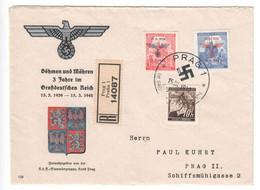 Drittes Reich , Böhmen Und Mähren , Dekorativer Brief , Kraft Durch Freude - Unclassified