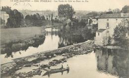 """CPA FRANCE 46 """" Figeac, Les Bords Du Célé Au Pont Du Pin"""" - Figeac"""