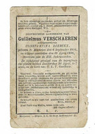 MECHELEN - Guilielmus VERSCHAEREN - Echtg. Constantina DIERCKX - °1844 En +1898 - Devotion Images