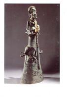 Cpm 58 CHATEAU CHINON MUSEE DU SEPTENNAT CAMEROUN HOMME CORNE BRONZE MOULE éléphant Iguane - 1985 - Cameroun