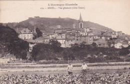 Mezel, Vue Générale, Côté Ouest, Animée, Paysans, Habitations, Champs, Clocher, 1928, L'Auvergne Pittoresque - Autres Communes