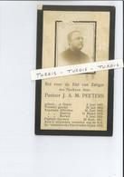 PASTOOR J A M PEETERS ° GRAVE 1867 - AFFERDEN - HAAREN - BOEKEL - GERWEN ( NUENEN ) + 1916 - Devotion Images