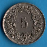 SUISSE SCHWEIZ  5 RAPPEN 1944 KM# 26 CONFŒDERATIO HELVETICA - Switzerland