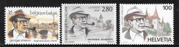 COB 2579 ** - Georges Simenon - Emission Commune Belgique / France / Suisse - Unused Stamps