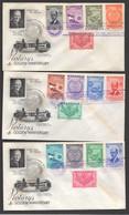 1955  Rotary International   50th Anniversary  Complete Set On 3 Unaddressed FDCs - Nicaragua