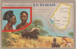 Dav : Carte Publicitaire  Du Lion Noir :  Colonies  Françaises ,le  Tchad , Melfi , Fort Lamy ,mao, Fayoo, Chasse - Advertising