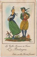 Dav : Carte Publicitaire  Farines  Jammet , La  Bretagne  , Illustrateur Jean Droit - Advertising