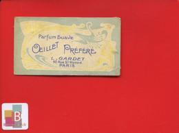 Carte Parfumée Circa 1900 Parfum Suave œillet Préféré Gardet Rue Saint-Honoré Paris Art Nouveau - Vintage (until 1960)