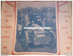 1903 AUTOMOBILE COURSE PARIS MADRID - LOOPING THE LOOP - LUTTE - INDUSTRIE AUTOMOBILE - PUB PHOTO-HALL - 1900 - 1949
