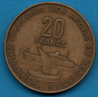 AFARS ET DES ISSAS  20 FRANCS 1975 KM# 15 TERRITOIRE FRANÇAIS DJIBOUTI - Colonies