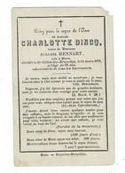 ST. GILLES-lez-Bruxelles - Charlotte DINCQ - Vve Auguste HENNART - Décédée 1878 - Devotion Images