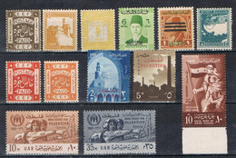 Lote 13 Sellos PALESTINA (palestine), Taxe, Refugees, Gaza, EEF Paid ** - Palästina
