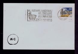 PORTUGAL FARO City ALGARVE'82 (6th Nat. Folklore Festival) Acordeon Musical Instrument Slogan /courtesy Pmk RARE Sp7658 - Dance