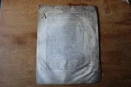1714  Charles Denis De Bullion 2500 Livres Sur Le Trésor Royal Sur Vélin - Manuscrits