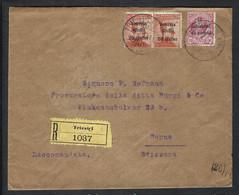 ITALIE 1919: LSC Rec. De Trieste Pour Paris, Affr. De 50c (Tarif Imprimés) - Non Classificati