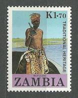 Zambia, 1987 (#439b), Zambian People, Traditional Heritage - 1v Single - Other
