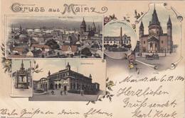 4694) GRUSS Aus MAINZ - STADTHALLE - Marktbrunnen - DOM - Neuer Brunnen - STADT - Tolle LITHO 6.12.1900 - Mainz