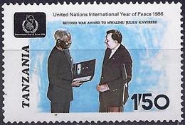 Tanzania 1986 - Mi 364 - YT 301 ( President Nyerere ) MNH** - Tanzania (1964-...)