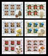 Romania 2021 Mih. 7852/57 Flora. Mushrooms (6 M/S) MNH ** - Unused Stamps