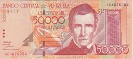 BILLETE DE VENEZUELA DE 50000 BOLIVARES DEL AÑO 1998 SIN CIRCULAR (BANK NOTE) UNCIRCULATED - Venezuela