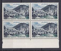 N° 976 Série Touristique: Lourdes: Beau Bloc De 4 Timbres Neuf Impeccable Sans Charnière - Ongebruikt
