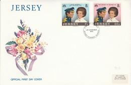 JERSEY FDC 1973 MARIAGE PRINCESSE ANNE - Jersey