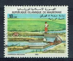 Mauritanie, 18um, Développement Agricole, Irrigation, Gorgol, 1982 Obl, TB peu Courant - Mauritania (1960-...)