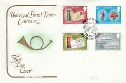 JERSEY FDC 1974 CENTENAIRE DE L'U P U - Jersey
