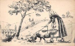 ¤¤  -  CAHORS  -  Chercheuse De Truffes  -  Le Lot Illustré  -  Illustrateur  -  Cochon   -  ¤¤ - Cahors