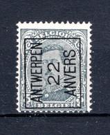 PRE62A MNH** 1922 - ANTWERPEN 22 ANVERS - Typo Precancels 1922-26 (Albert I)