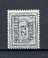 PRE63A MNH** 1922 - BRUXELLES 22 BRUSSEL - Typo Precancels 1922-26 (Albert I)