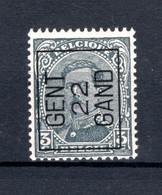 PRE64A MNH** 1922 - GENT 22 GAND - Typo Precancels 1922-26 (Albert I)