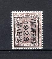 PRE68B-III MNH** 1923 - ANTWERPEN 1923 ANVERS - Tipo 1922-26 (Alberto I)