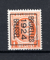 PRE92B MNH** 1924 - BRUXELLES 1924 BRUSSEL - Typo Precancels 1922-31 (Houyoux)