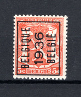 PRE308A MNH** 1936 - BELGIQUE 1936 BELGIE - Tipo 1936-51 (Sigillo Piccolo)