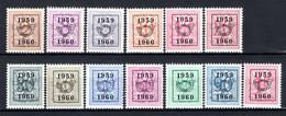 PRE686/698 MNH** 1959 - Cijfer Op Heraldieke Leeuw Type E - REEKS 52 - Typo Precancels 1951-80 (Figure On Lion)