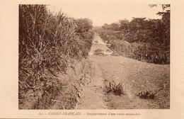 Congo Français - Empierrement D'une Route Automobile - Congo Français - Autres