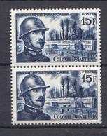 N° 1052 40ème Anniversaire De La Mort Du Colonel Emile Driant : Belle Paire De 2 Timbres Neuf Impeccable Sans Charnière - Ongebruikt